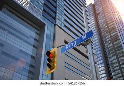 King Street in Toronto, ontario