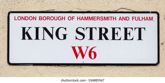 King Street W6 London Borough Of Hammersmith And Fulham Street Name Signs