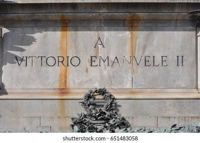 King Vittorio Emanuele II monument in Turin, Italy