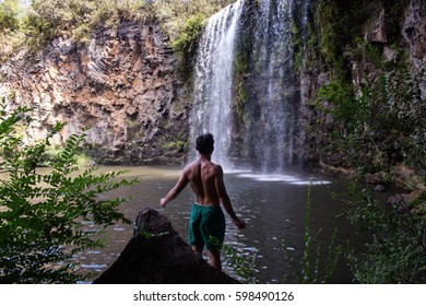 King of the waterfall