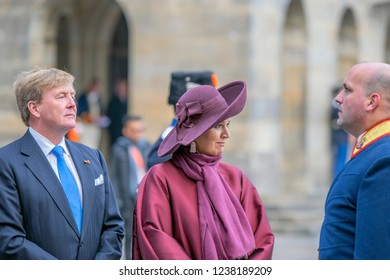 King Willem Alexander And Queen Maxima At The Dam Square Amsterdam The Netherlands 21-11-2018