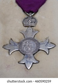 KINGAROY, AUSTRALIA, MARCH 29, 2016: A 1918 medal of the Most Excellent order of the British Empire