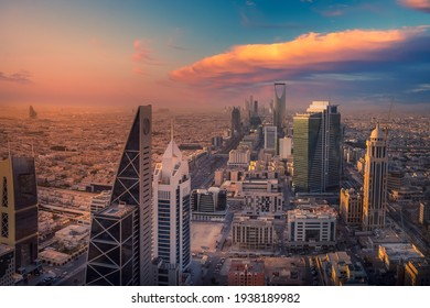 Kingdom of Saudi Arabia Landscapes by day - Riyadh Tower Kingdom Tower - Kingdom Tower - Riyadh Skyline - Riyadh during the day - Shutterstock ID 1938189982
