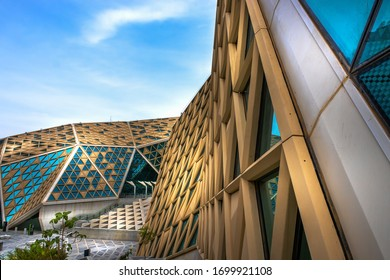 Kingdom of Saudi Arabia, Riyadh, King Abdullah Financial District January 31, 2020 Large buildings equipped with the latest technology
