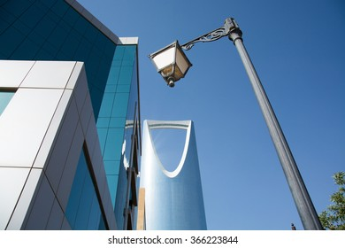 Kingdom tower, office building and the street light