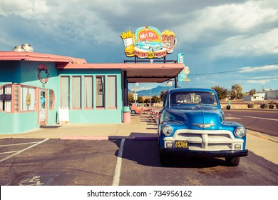 KINGMAN, ARIZONA. 28th august, 2017: famous diner close to route 66 at kingman town