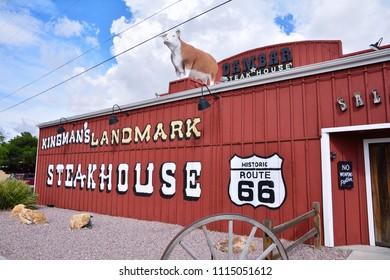 Kingman, Arizona - July 24, 2017: Dambar steakhouse restaurant in Kingman, Arizona on Route 66.