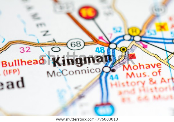 Map Of Arizona Kingman.Kingman Arizona Usa On Map Stock Photo Edit Now 796083010