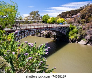 Kings bridge from Cataract Gorge, Launceston Tasmania Australia