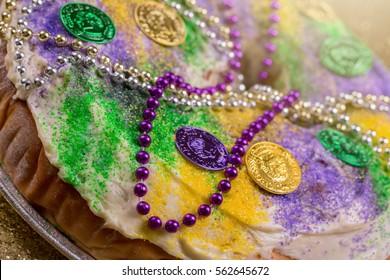 King's Cake on Gold Glitter