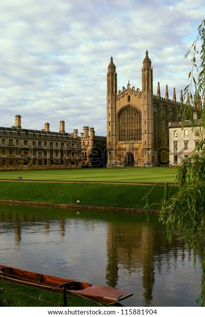 Kings College Cambridge Backs Stock Photo (Edit Now) 115881904