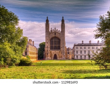Kings College Cambridge shot as HDR image