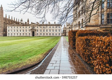 King's College panoramic view, Cambridge, England, UK