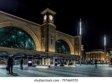 Kings cross station in the night, London, UK