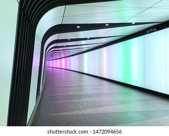 The Kings Cross tunnel with LED light wall.