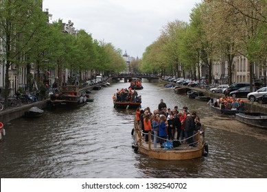 kings day in amsterdam noord holland 27 april 2019 the netherlands