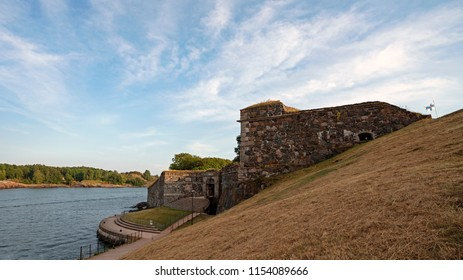 King's Gate in Suomenlinna, Castle of Finland in English, an island fortress in the Gulf of Finland, protecting the capital city of Helsinki. Suomenlinna is an UNESCO World Heritage Site.