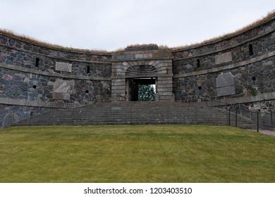 King's Gate in Suomenlinna fortress located in Helsinki, Finland