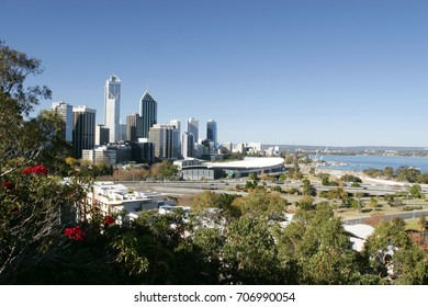Kings park and Botanic Garden, It's perched high with panoramas of Perth's city skyline and Swan River.