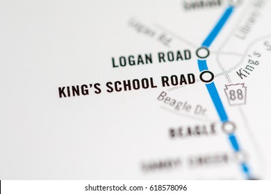 King's School Road Station. Pittsburgh Metro map.