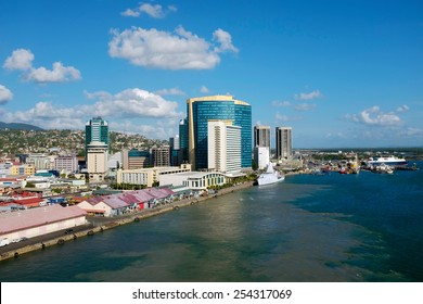 King's Wharf in Port of Spain at Trinidad
