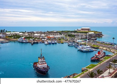 KINGS WHARF,BERMUDA, MAY 25 - A scenic view of the Royal Naval Dockyard on May 25 2016 in Bermuda.