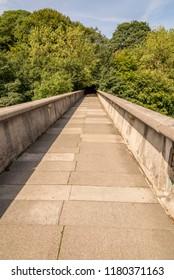 Kingsgate footbridge leading to Durham Cathedral - Durham, United Kingdom
