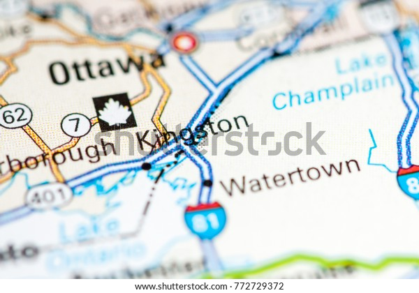 Kingston Canada Map Kingston Canada On Map Stock Photo (Edit Now) 772729372