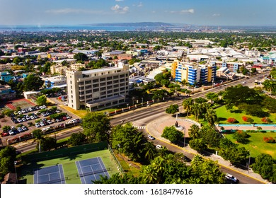 KINGSTON / JAMAICA - JANUARY 15, 2020: CITYSCAPE OF KINGSTON JAMAICA