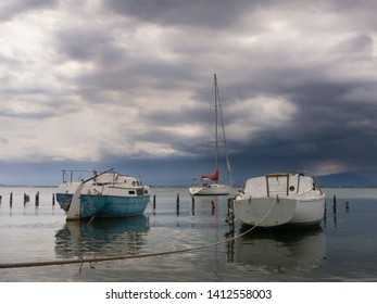 KINGSTON, JAMAICA - MAY 26, 2019: Luxury Yacht docked in a harbor