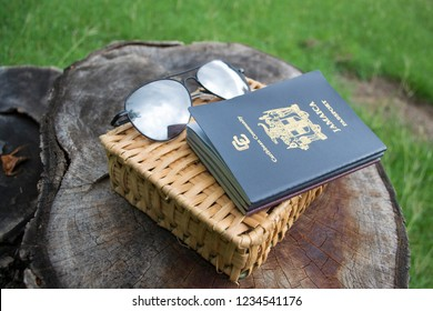 Kingston, Jamaica / Jamaica- November 15 2018: A Photograph of the Caribbean Community Passport for Jamaica
