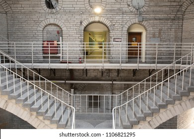 Kingston, ON/Canada - May 5, 2018 The now decommission Kingston Penitentiary.