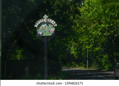 Kingston Upon Hull, Britain, UK - 12th May 2019: Road sign on street directing to West Ella, Kirk Ella, in Kingston upon Hull, East Yorkshire (City of Culture 2017)