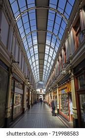 KINGSTON UPON HULL UK- 24TH AUGUST 2016- Interior of the Hepworth Arcade shopping arcade in Hull