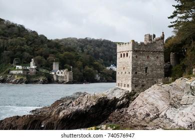 Kingswear Castle and Dartmouth Castle, Kingswear, Dartmouth, Devon, UK
