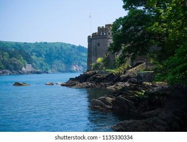 Kingswear and Dartmouth Castle, Devon, United Kingdom, May 24, 2018