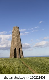 Kingswear, Devon, UK - May 21 2015, Showing the Daymark navigation aid errected in 1864 to aid sailers into the estuary