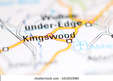 Kingswood. United Kingdom on a geography map