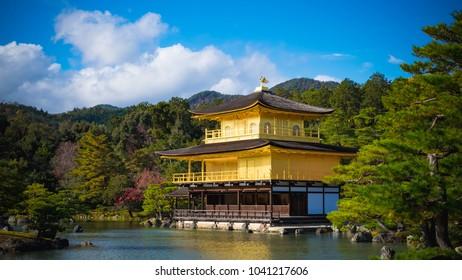 Kinkakuji (Golden Pavilion) at Kyoto, Japan