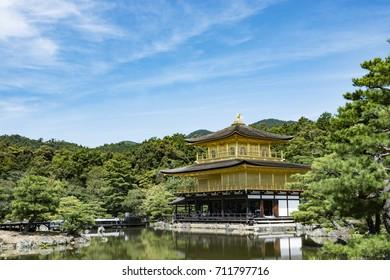 Kinkaku-ji, the Golden Pavilion, a Zen Buddhist temple in Kyoto, Japan