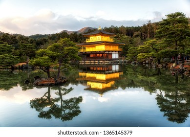 Kinkaku-ji literally Temple of the Golden Pavilion, officially named Rokuon-ji is a Zen Buddhist temple in Kyoto, Japan, It is one of the most popular buildings in Japan, attracting many vistitors.