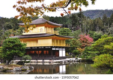 Kinkakuji Temple with golden in japan