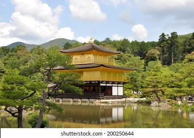 Kinkaku-ji Temple (Golden Pavilion), a Zen Buddhist Temple in Kyoto, Japan.