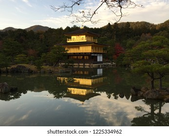 Kinkaku-ji, which measTemple of the Golden Pavilion, is officially named Rokuon-ji.  It is a Zen Buddhist temple in Kyoto, Japan. It is one of the most popular buildings in Japan.