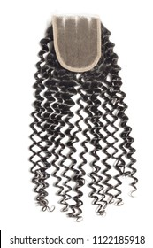 kinky curly black human hair weaves extensions lace  closure