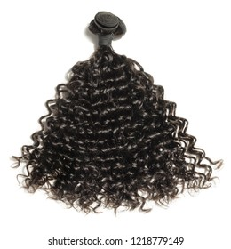 kinky curly black human hair weaves extensions bundle