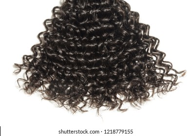 kinky curly black human hair weaves extensions bundle