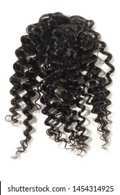kinky curly black human hair weave extensions closure