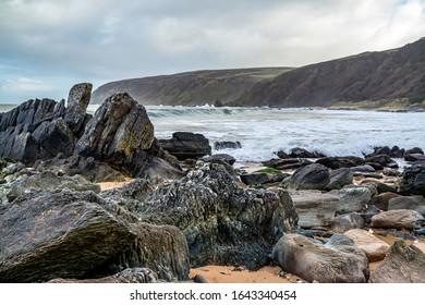 Kinnagoe bay in County Donegal, Inishowen - Ireland.