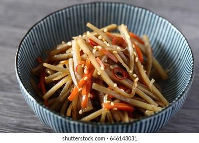Kinpira gobo - Japanese cuisine,Kinpira burdock